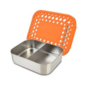 LunchBots Medium Duo Stainless Orange Dots