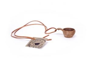 Kupilka 1, Mini cup with leather cord Brun